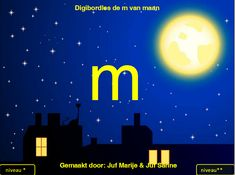 de m van maan powerpoint Letter Of The Week, Multimedia, Spelling, Alphabet, Preschool, Language, Education, Reading, Carnival