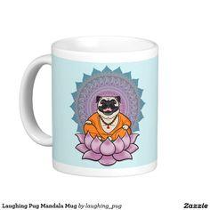 Shop Laughing Pug Mandala Mug created by laughing_pug. Pugs, Laughing, Buddha, Mandala, Happy, Art, Happy Happy Happy, Pug Dogs, Mandalas