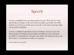 Writing a formal letter persuasive writing french vce text types writing a speech persuasive writing french vce text types youtube spiritdancerdesigns Gallery