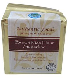 Love this Brown Rice Flour that can be substituted in almost any recipe that calls for wheat flour!