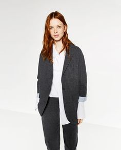 Image 1 of PINSTRIPE JACKET from Zara