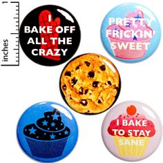 Sarcastic Buttons Baking Humor Pins for Backpacks or Jackets Lapel Pins Badges Brooches 5 Pack Gift Set 1 Inch Funny Buttons, Cool Buttons, Funny Magnets, Small Gifts, Lapel Pins, Cool Gifts, Funny Gifts, Gifts For Mom, Locker Magnets