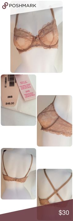 Victoria's Secret Body By Victoria Unlined NWT Victoria's Secret Body by Victoria unlined Demi. Beautiful floral lace. Underwire for extra support. Adjustable straps, can be adjusted to cross back. Back closure with double row of hook & eye closures. Size 36B Victoria's Secret Intimates & Sleepwear Bras