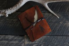 Leather Journal Pine Tree by Willow Creek Leather Co.