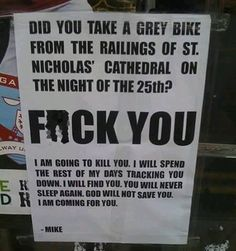 Do NOT Steal Mike's Bike
