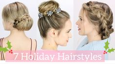 This 7 easy Holiday Hairstyles tutorial is here to get you through this Christmas season!