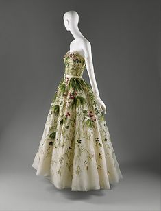 """May""  House of Dior  (French, founded 1947)    Designer:      Christian Dior (French, Granville 1905–1957 Montecatini)  Date:      spring/summer 1953  Culture:      French  Medium:      silk"