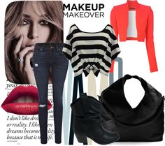 """""""Black White and Red All Over"""" by kaylaaakaliope on Polyvore"""