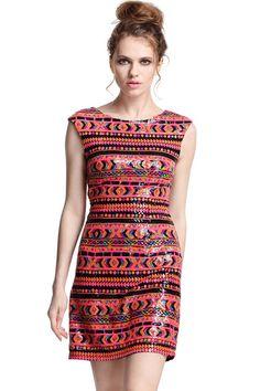Ethnic Sequined Dress #romwepartydress