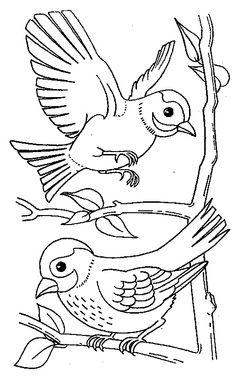 Pássaros imagem de impressão 166