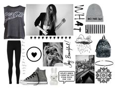 """""""Black & White. 11"""" by my-dreams29 ❤ liked on Polyvore featuring mode, Chaser, Vince, Dorothy Perkins, Eastpak, Converse, Kate Spade et Local Heroes"""