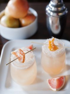 #Cocktail / candied grapefruit cocktail