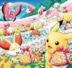 Pikachu, Gardevoir and the Kalos Pokémon ^_^ ^.^ <3