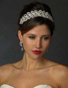 Stunning Marquise Rhinestone Wedding Tiara