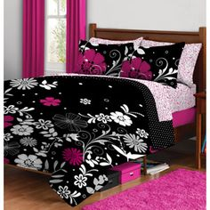 Twilight Garden Bed in a Bag Bedding Set, new bedset for my room! Girls Bedroom, Bedding Set, Beautiful Bedding Sets, Bed Linens Luxury, Bed In A Bag, Home Decor, Bed, Bedroom Decor, College Bedding