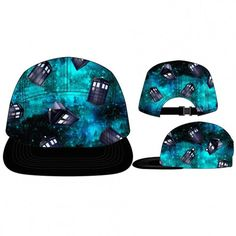 Doctor Who Tardis Space Camper Style  Baseball Cap Flat Brim Adjustable Hat #BaseballCap