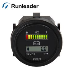 12 24 36 48 72V  Battery Indicator and hour meter for golf carts motorcycle forklift MARINERL-BI004