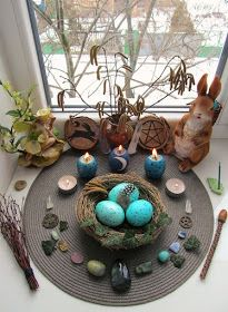witchy spaces and altar goals Wicca Altar, Pagan Witchcraft, Wiccan Sabbats, Beltane, Samhain, Vernal Equinox, Equinox 2018, Asatru, Book Of Shadows