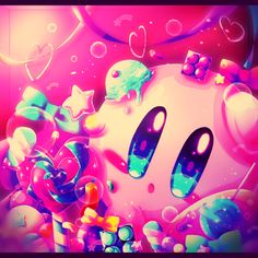 Kirby by めぽ. KIRBY, GIMME ALL OF YO SUGAR!!!
