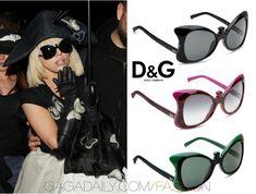 Lady Gaga in D&G Sunglasses