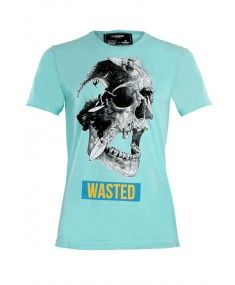 Dom Rebel - 'Wasted' T-Shirt Turquoise *New Collection* Latest Fashion Design, Fashion Designer, Designer Sale, London Clothing Stores, Rebel, Philipp Plein T Shirt, Designer Clothes For Men, Fashion Sale, Tshirts Online