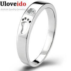 Uloveido anillo anillos de plata del partido del dedo del pie para las mujeres hombres anillo de la joyería Anillo de compromiso Masculino 2017 Bague Femme Anel Feminino 49% Off J013