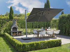 Heerlijk even in de schaduw met deze draaibare parasol! Zo bepaal je op elk moment van de dag hoe jij erbij zit in de tuin!