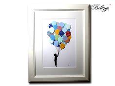 Kinderzimmer Bild, Luftballons gross von Bellyys - Handgefertigte Liebe - Bestseller - Design Unikate - Genähtes und mehr...  Für klein und gross! auf DaWanda.com