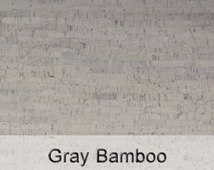 gray bamboo cork floor color