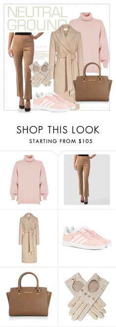 """""""Who said neutral's boring?"""" by puresophia ❤ liked on Polyvore featuring TIBI, Joseph Ribkoff, adidas Originals, MICHAEL Michael Kors and Black"""