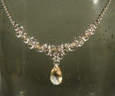 Necklace 925 Sterling silver and Swarovski