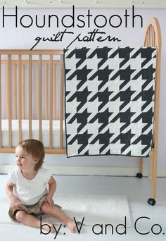 V and Co.: new pattern: houndstooth quilt pattern