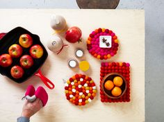 Get your kitchen ready for Fall cooking! Order your Aveva Wool Cerise Potholder: http://ss1.us/a/thS7Gb3w and #Aveva Round #Wool #Trivets in Cerise: http://ss1.us/a/9Wr99mdR, Bubblespice: http://ss1.us/a/s4iAtUb2, and Orange: http://ss1.us/a/cgKy0x0P. #aveva #fall #home #decor #dining