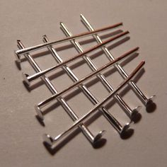 50x Stainless Steel Flat Head Pins Silver Tone 30mm//40mm//50mm Beading Supplies