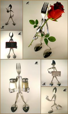 spoon and fork art