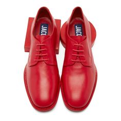Jacquemus - Red Leather Clown Oxfords