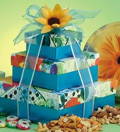 Search results for: 'summer skies gift tower' Summer Gift Baskets, Themed Gift Baskets, Summer Sky, Pretty Box, Summer Flowers, Yummy Treats, Cocoa, Summertime, Decorative Boxes