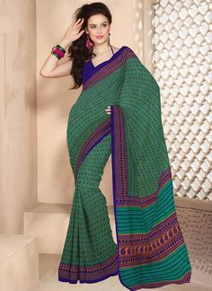 Delicate green cotton saree