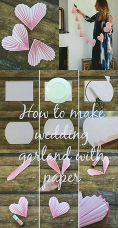 Awww… ❤ What a cute decoration idea for the wedding paper garland… - Do it yourself D . - Awww… ❤ What a cute decoration idea for the wedding paper garland… – Do it yourself decorat - Valentines Day Decorations, Diy Wedding Decorations, Paper Decorations, Decor Wedding, Heart Decorations, Wedding Ideas, Wedding Crafts, Birthday Decorations, Paper Flowers Diy