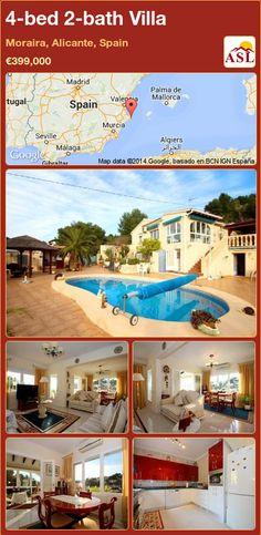 4-bed 2-bath Villa in Moraira, Alicante, Spain ►€399,000 #PropertyForSaleInSpain