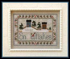 Little House Needleworks: Snowflakes – BushMountain Stitchery Small Cross Stitch, Cross Stitch Tree, Counted Cross Stitch Kits, Cross Stitch Designs, Cross Stitch Patterns, Little House Needleworks, Fabric Scraps, Cross Stitching, Sewing Projects