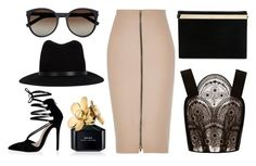 """classic black, gold and blush"" by georgiaphillips on Polyvore"