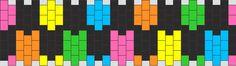 Bright Rainbow Checkers bead pattern