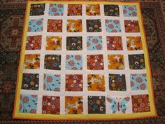 A Handful of Everything: Blue Butterfly Baby Quilt