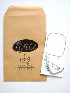 The Peace Bag or beg by kimslittlemonsters on Etsy, €7,95