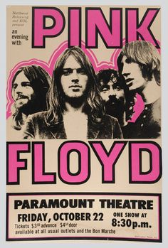 Music poster pink floyd 45 Ideas is part of Music concert posters - Poster Retro, Vintage Concert Posters, Posters Vintage, Arte Pink Floyd, Rock Vintage, Retro Vintage, Vogue Vintage, Vintage Hawaii, Vintage Travel