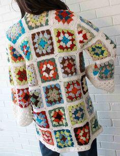 Maggie's Crochet · Granny Square Coat Crochet Pattern