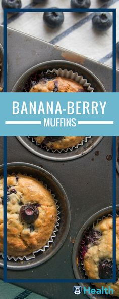 The fruity combination your morning has been waiting for! Give your banana muffins some tart with heart-healthy blueberries.