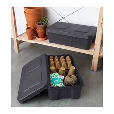 KLÄMTARE Box with lid, indoor/outdoor - 27x45x15 cm - IKEA