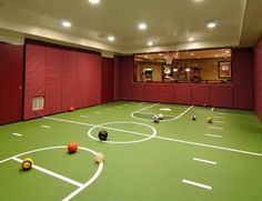 Representation of Indoor Basketball Court, Healthy Support for More Private and Fun Exercise Basement Gym, Basement Remodeling, Basement Walls, Unfinished Basement Playroom, Basement Entrance, Basement Laundry, Laundry Room, Cool Basement Ideas, Dark Basement
